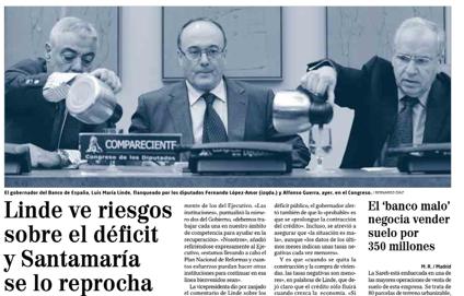 Agua gobernador Banco España