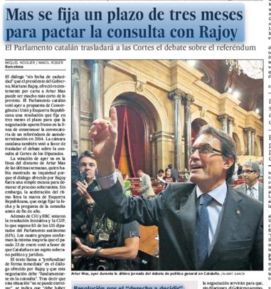 El dedo de Artur Mas